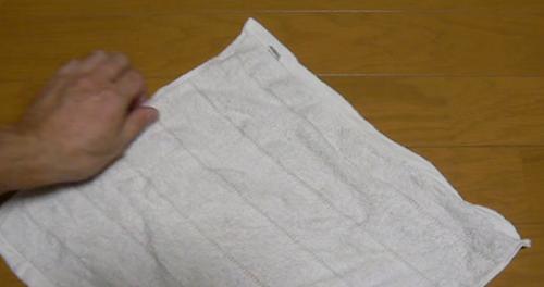 おしぼりアート「ひよこ」STEP1