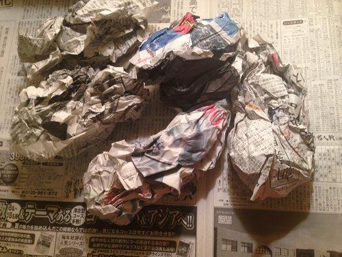 新聞紙で除湿
