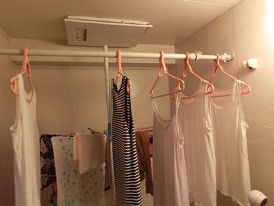 浴室除湿機能、乾燥機で乾かす